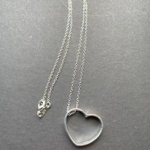 Jewelry - NWOT Silver Plated Heart Pendant
